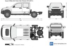 Isuzu D-Max 4x4 Crew Cab Chassis SX