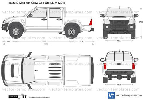 Templates Cars Isuzu Isuzu D Max 4x4 Crew Cab Ute Ls M