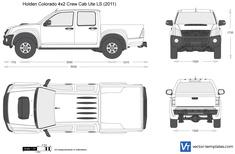Holden Colorado 4x2 Crew Cab Ute LS