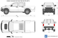 Holden Colorado 4x2 Crew Cab Ute SX