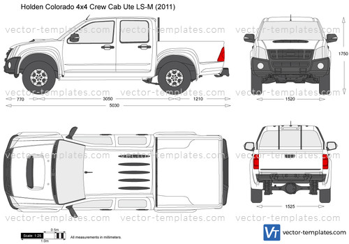 Templates Cars Holden Holden Colorado 4x4 Crew Cab