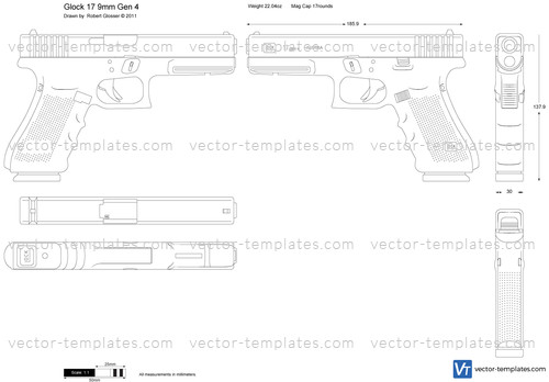 Templates Weapons Pistols Glock 17 9mm Gen 4