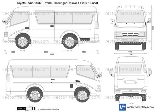 Toyota Dyna 115ST Prona Passenger Deluxe 4 Pintu 12-seat
