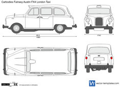 Carbodies Fairway Austin FX4 London Taxi