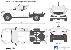 Mazda BT-50 4x2 Freestyle Cab Chassis