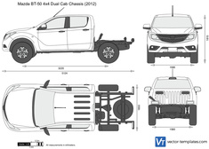 Mazda BT-50 4x4 Dual Cab Chassis