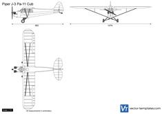 Piper J-3 Pa-11 Cub