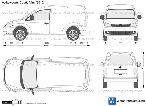 Templates Cars Volkswagen Volkswagen Caddy Van