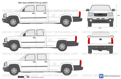 Templates Cars Gmc Gmc Sierra 2500hd Pick Up
