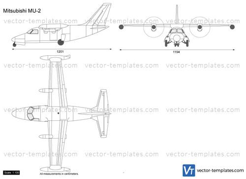 [SCHEMATICS_48ZD]  Templates - Modern airplanes - Modern M - Mitsubishi MU-2 Peacock | Mitsubishi Mu 2 Schematic |  | vector-templates.com