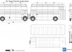 AEC Regal III Red Bus Double Decker