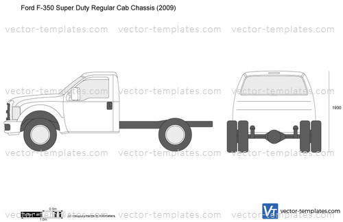 Templates - Cars - Ford - Ford F-350 Super Duty Regular ...