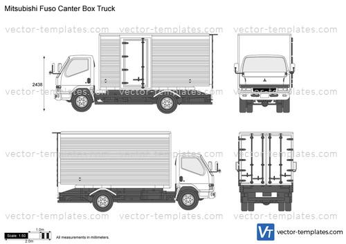 templates trucks mitsubishi fuso mitsubishi fuso canter box truck