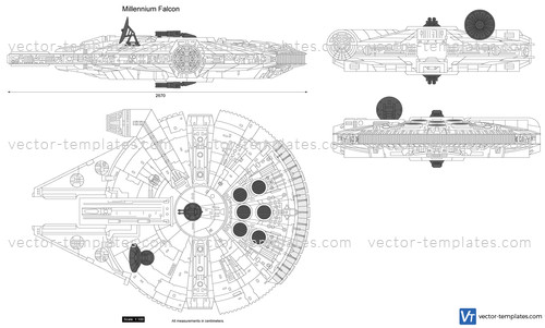 templates science fiction star wars  millennium falcon