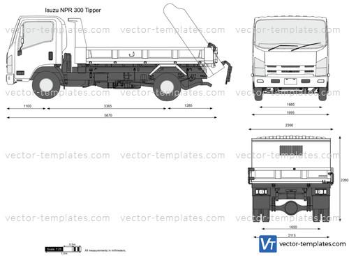 Templates Trucks Isuzu Isuzu Npr 300 Tipper