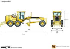 Caterpillar 12K Motor Grader