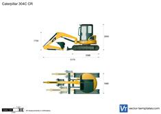 Caterpillar 304C CR Mini Hydraulic Excavator