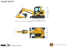 Caterpillar 308D CR Mini Hydraulic Excavator
