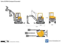 Volvo ECR38 Compact Excavator