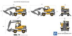 Volvo EW140C Wheeled Excavator