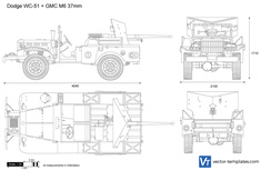 Dodge WC-51 + GMC M6 37mm