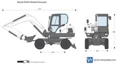 Bobcat E55W Wheeled Excavator
