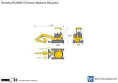 Komatsu PC20MR-3 Compact Hydraulic Excavator