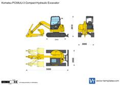 Komatsu PC58UU-3 Compact Hydraulic Excavator