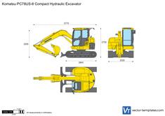 Komatsu PC78US-8 Compact Hydraulic Excavator