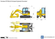 Komatsu PC78UU-6 Compact Hydraulic Excavator