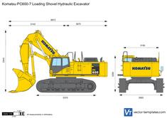 Komatsu PC600-7 Loading Shovel Hydraulic Excavator
