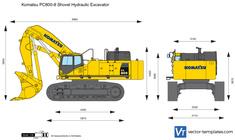 Komatsu PC800-8 Shovel Hydraulic Excavator