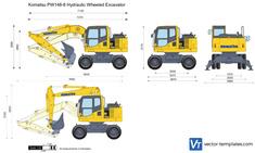 Komatsu PW148-8 Hydraulic Wheeled Excavator