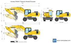 Komatsu PW200-7 Hydraulic Wheeled Excavator