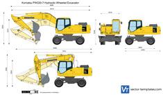 Komatsu PW220-7 Hydraulic Wheeled Excavator