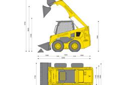 Komatsu SK815-5 Skid Steer Loader