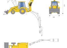 Komatsu WB93R-5 Rigid Backhoe Loader