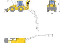 Komatsu WB97S-5 Rigid Backhoe Loader