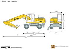 Liebherr A 904 C Litronic Wheeled Excavator