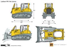 Liebherr PR 744 Litronic Crawler Tractor