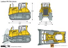 Liebherr PR 754 Litronic Crawler Tractor