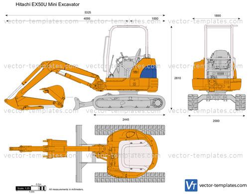 Hitachi EX50U Mini Excavator