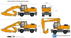 Hitachi ZAXIS 210W Wheeled Excavator