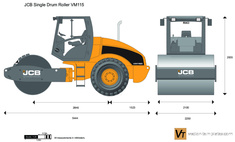 JCB VM115 Single Drum Roller