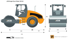 JCB VM132 Single Drum Roller