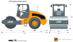 JCB VM146 Single Drum Roller