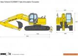 New Holland E235BSR Triple Articulation Excavator