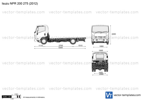 templates - trucks - isuzu