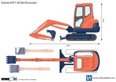 Kubota KX71-3S Mini Excavator