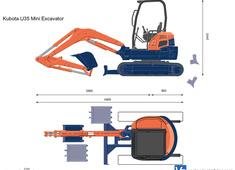 Kubota U35 Mini Excavator